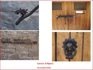 Alpens - Mostra d'alguns dels treballs de forja que es poden veure en qualsevol carrer del poble