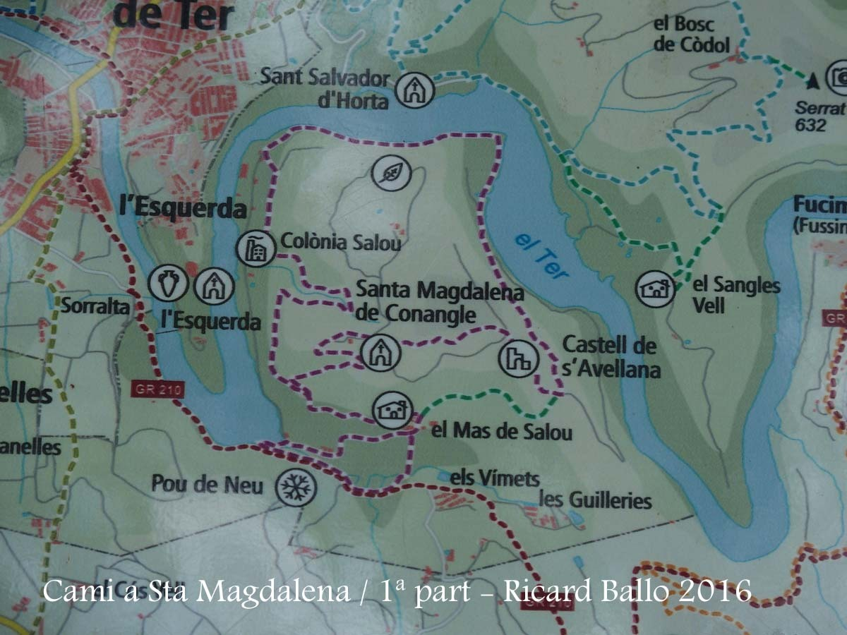 Monestir de Santa Magdalena de Conangle-1ª Part del camí