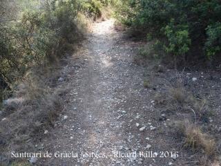 Vistes des del camí que puja al Santuari de Gràcia – Sitges