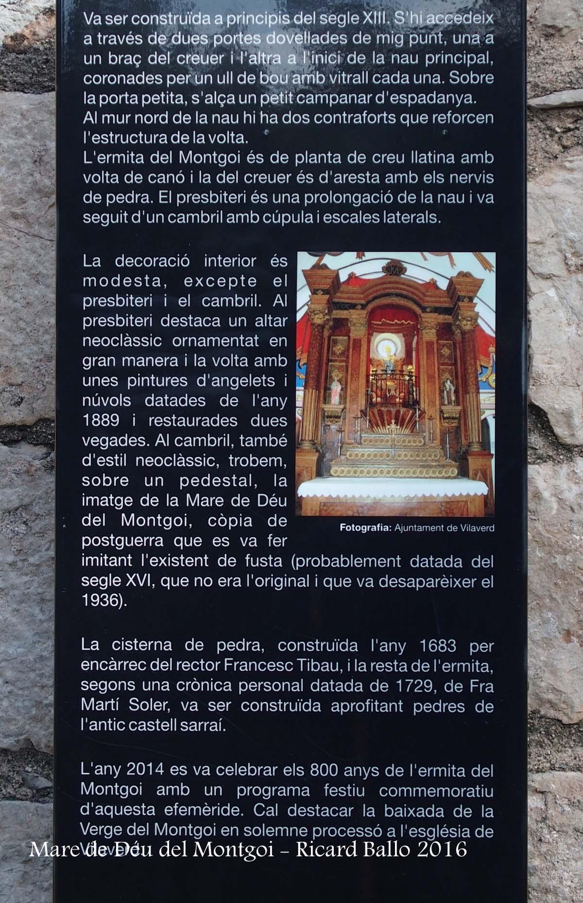 Santuari de la Mare de Déu del Montgoi – Vilaverd