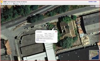 Torre Mirona – Salt - Captura de pantalla d\'un mapa del ICGC