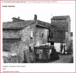 Torre Mirona-Salt-Captura de pantalla d\'una fotografia extreta de Patrimoni.Gencat
