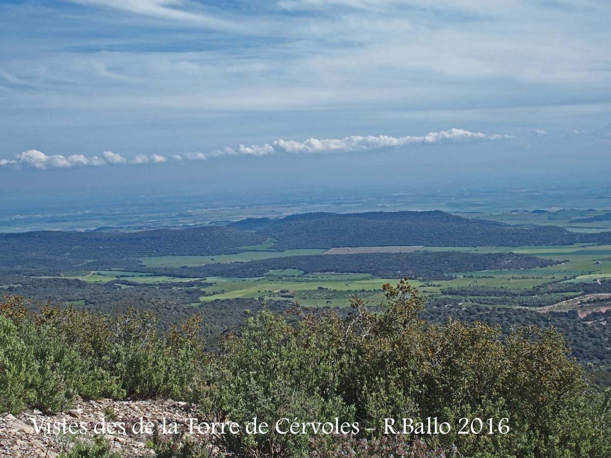 Vistes des de la Torre de Cérvoles – Os de Balaguer
