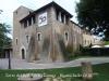 Torre del Bell-lloc – Girona - El cartell a la façana anuncia la commemoració del cinquantenari de l'escola ( 1965 - 2015)