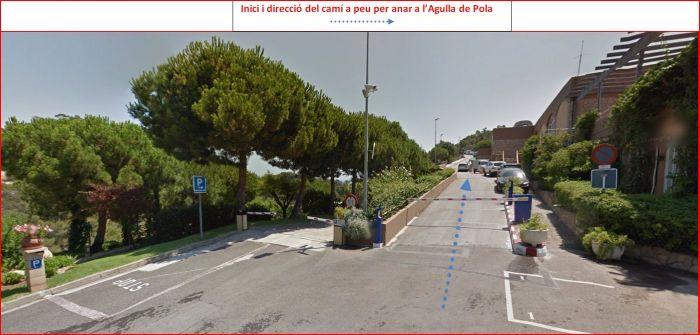 Agulla de Pola – Tossa de Mar - Itinerari - Captura de pantalla de Google Maps, complementada amb anotacions manuals