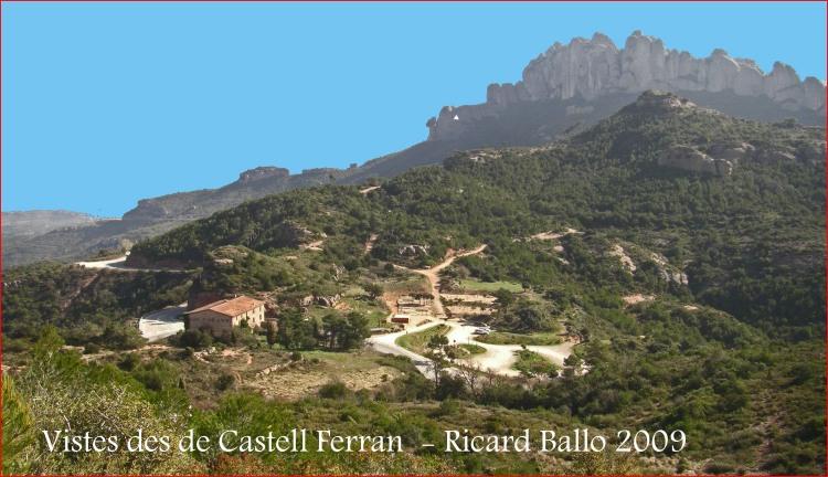 Castell Ferran-Anoia - En primer lloc Can Massana. Al fons, la serralada de Montserrat.