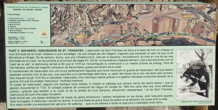 Safareig i abeurador de Sant Francesc / Cervera