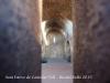 Antiga església parroquial de Sant Esteve de Castellar Vell – Castellar del Vallès - Fotografia de l\'interior obtinguda introduint l\'objectiu de la càmera a través d\'un dels forats que hi ha a la porta d\'entrada.