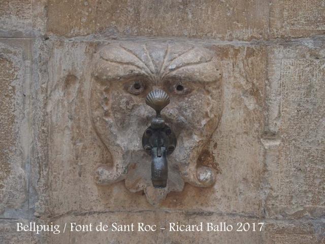 Bellpuig - Plaça de Sant Roc - Font de Sant Roc