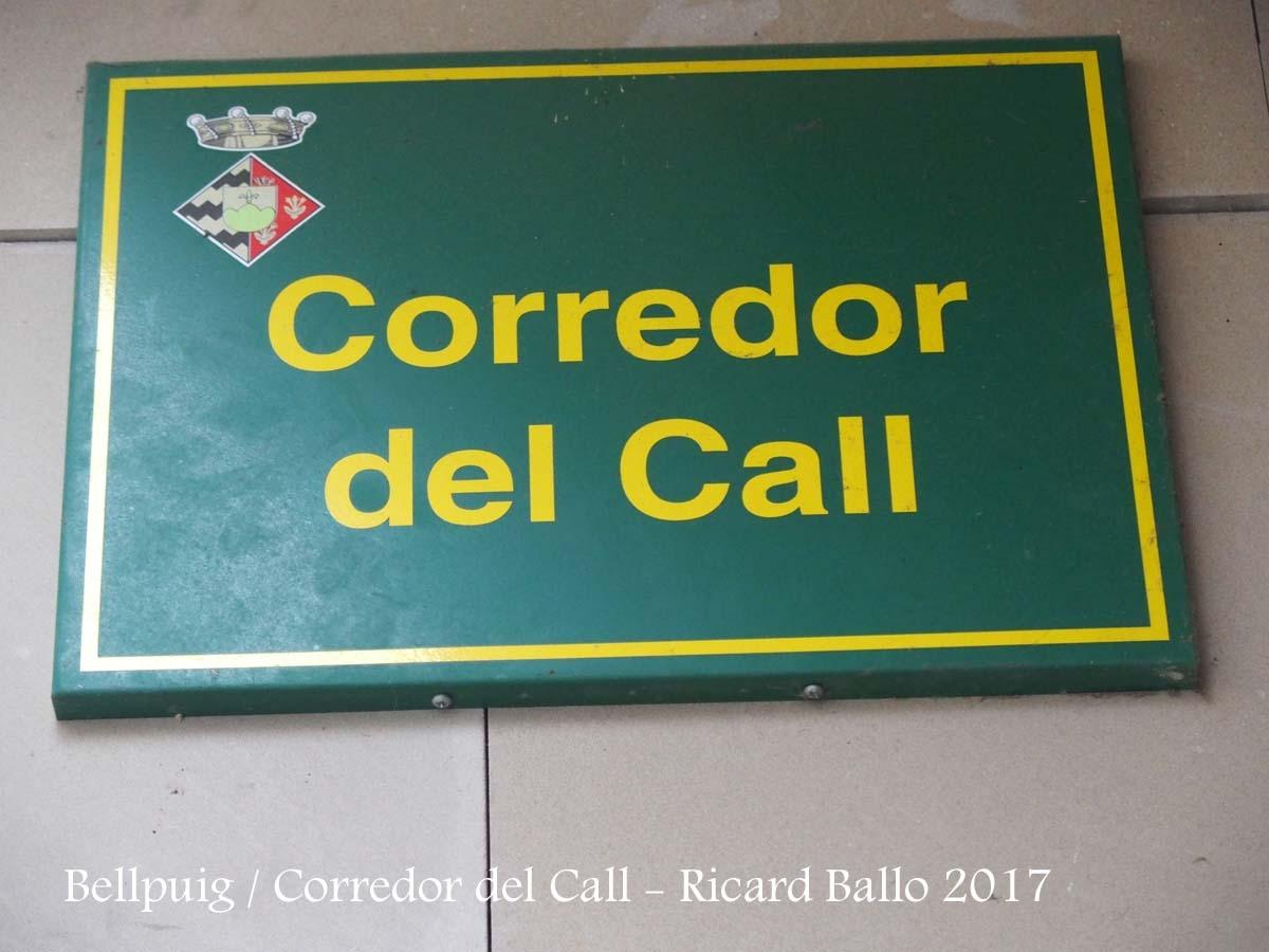 Bellpuig-Corredor del Call