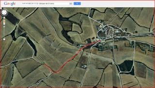 Búnquer del Canós - Captura de pantalla de Google Maps, complementada amb anotacions manuals.
