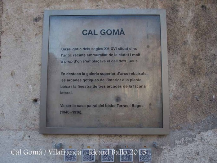Cal Gomà-Vilafranca del Penedès