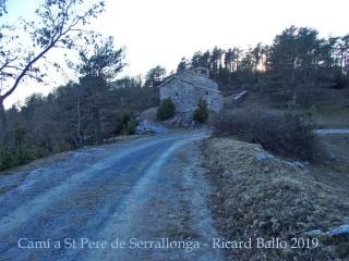 Camí a l'Església de Sant Pere de Serrallonga – Alpens
