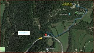 91-Església de Sant Feliu de Savassona-Mapa-Google-Itinerari