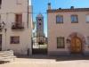 Vista del campanar de l'església parroquial de Sant Menna – Sentmenat, des de la Plaça de Baix