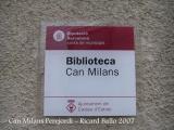 Can Milans Perejordi - Biblioteca Munipal de Caldes d'Estrac.
