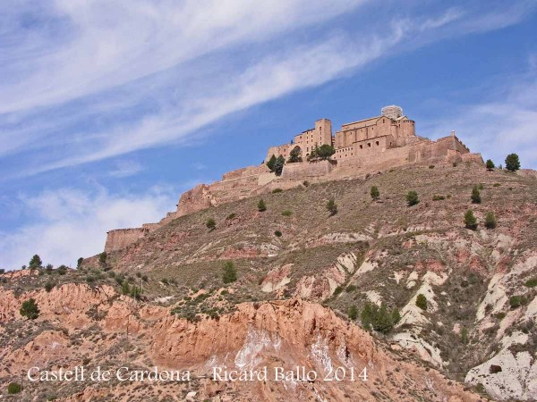 Vista del castell de Cardona i de la Canònica de Sant Vicenç de Cardona