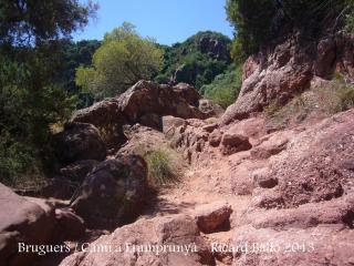 Bruguers - Gavà - Inici del camí al castell de'Eramprunyà.
