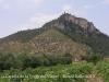 Capella de la Verge del Vinyet – Castellví de la Marca - Al fons de la fotografia, al cim del turó, el castell de Castellvell de la Marca i la capella de Sant Miquel.