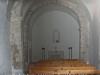 Capella de la Verge del Vinyet – Castellví de la Marca - Fotografia obtinguda a través de la petita portella reixada que hi ha a la porta d\'entrada.