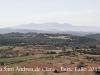 Vistes des de la capella de Sant Andreu del castell de Clarà - Al fons, la muntanya de Montserrat.