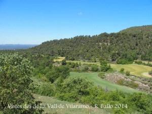 Vistes des de la Capella de Sant Bartomeu de la Vall de Vilaramó – Gaià