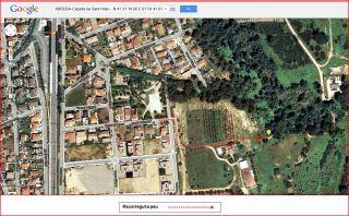 Capella de Sant Hilari - Abrera - Itinerari - Captura de pantalla de Google Maps, complementada amb anotacions manuals.