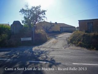 Capella de Sant Joan de la Maçana–Font-rubí - Itinerari.