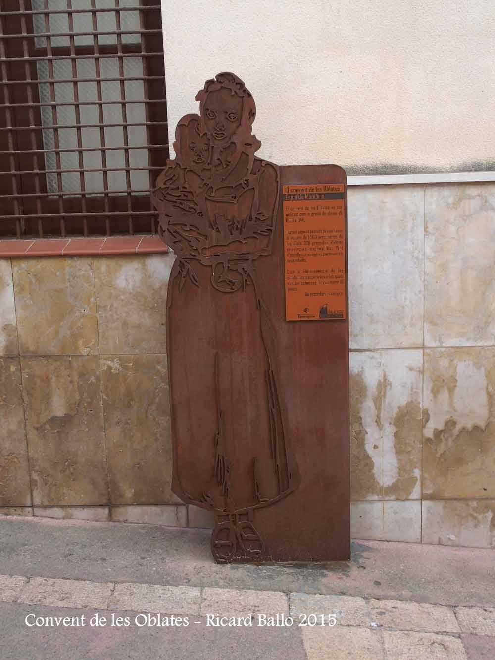 Tarragona - Carrer Portal del carro - plafó informatiu - Convent de les Oblates