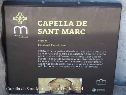 Capella de Sant Marc – Manresa
