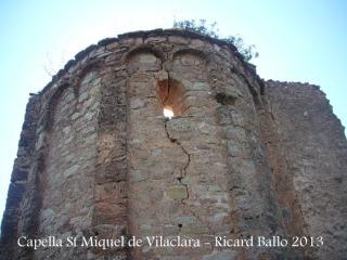 Capella de Sant Miquel de Vilaclara - Absis - exterior.