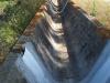 Capella de Sant Nazari de les Olives – Peralada - Una canalització d'aigua de reg.