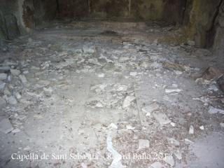 Capella de Sant Sebastià – Òdena - Interior