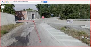 Capella de Sant Sebastià – Òdena - Visió d'una part de l'itinerari - Captura de pantalla de Google Maps, complementada amb anotacions manuals - Sortida A-2 - Detall segona desviació.