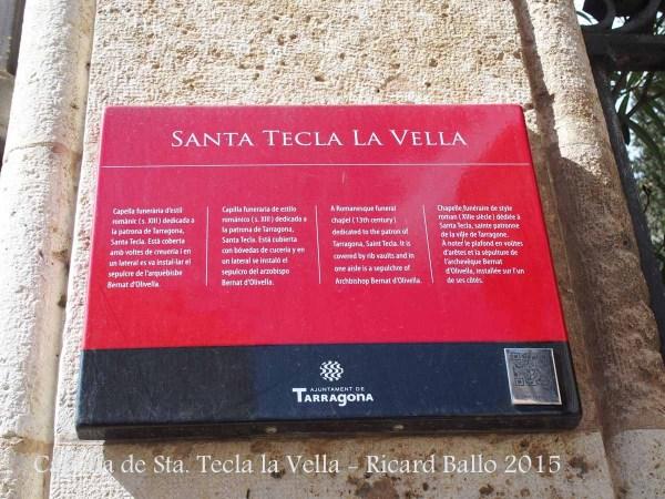 Capella de Santa Tecla la Vella – Tarragona