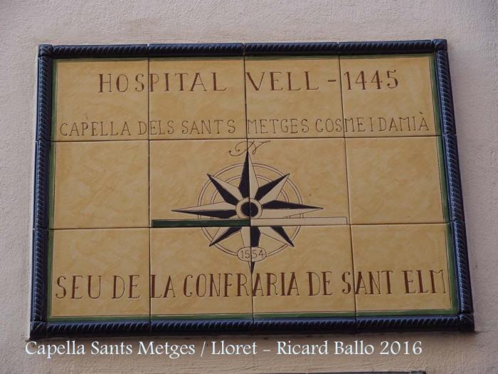 Capella dels Sants Metges – Lloret de Mar