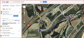 Casal de Mont-ral-Itinerari-Captura de pantalla de Google Maps, complementada amb anotacions manuals.
