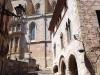 Casal dels Josa – Montblanc - Al fons de la fotografia, apareix l'església de Santa Maria la Major