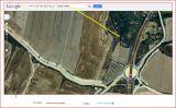Castell d'Alfés-Itinerari-Captura de pantalla de Google Maps, complementada amb anotacions manuals.