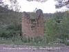 Camí que des del castell d'Almudèfer (Caseres) es dirigeix a Horta de Sant Joan, passant primer a tocar d'Arenys de Lledó (Terol - comarca del Matarranya). Durant el recorregut hem trobat aquesta construcció. Posteriorment, a casa, no hem localitzat cap informació. Podria ser una torre de guaita o de defensa (?).A l'interior, la base, és plena d'aigua. N 41 00 09.28 E 00 16 16.62