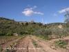 Vistes del Castell d'Almudèfer, des del camí d'accés, cap al final del recorregut