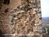 Castell d'Alós de Balaguer - Torre: Detall ample de la paret.