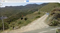 Castell d'Arbul - Inici pista de muntanya. Captura de pantalla de Google Maps.