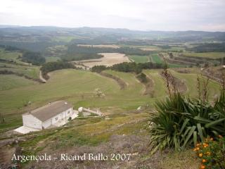 Vistes des del castell d'Argençola.