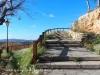 Escales d'accès a la planura on hi ha les restes del Castell de Banyeres del Penedès