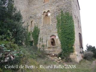 Castell de Berti - Una mostra de les trencadisses.