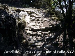 """Castell de Castellcir - Camí. El terra podria ser l'""""original"""", d'època medieval."""