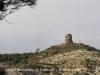 Castell de Castelló. Torre albarrana situada darrere de l'edificació principal.