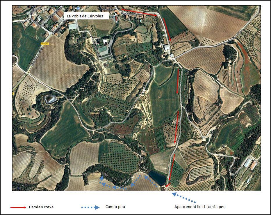 castell-de-cervols-itinerari-google-maps