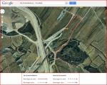 Niu de metralladores de Concabella-Mapa de situació-Google Maps complementat amb anotacions manuals.